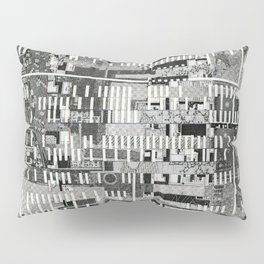 Exploiting Digital Behavior (P/D3 Glitch Collage Studies) Pillow Sham