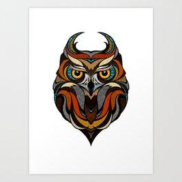 Oldschool Owl Art Print