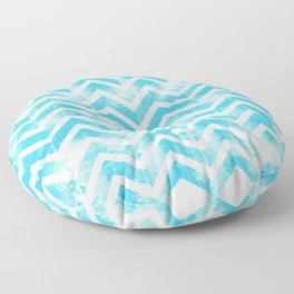 Maritime Aqua Teal Chevron Herringbone ZigZag - Mix & Match Floor Pillow