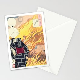 Moon and Smoke , Japanese Firefighter Stationery Cards