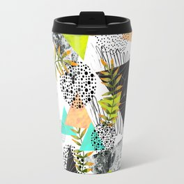 Triangles and plants Travel Mug