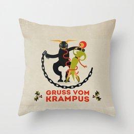 Gruss vom Krampus II Throw Pillow