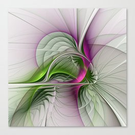 Wild Beauty, Abstract Fractal Art Canvas Print
