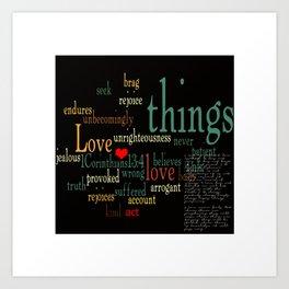 """""""1 Corinthians 13:4-8"""" Art Print"""