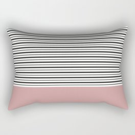SAILOR STRIPES WITH PINK Rectangular Pillow