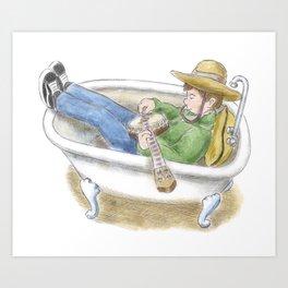 Bathtub Banjo Art Print
