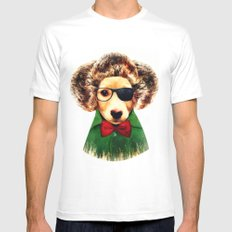 Dog ( Ben) SMALL White Mens Fitted Tee