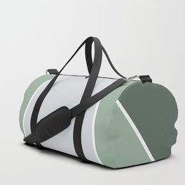 Diagonal Color Block in Green and Gray Duffle Bag