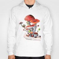 mushrooms Hoodies featuring Mushrooms by Belle Kim