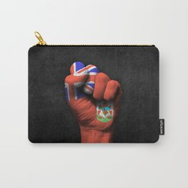 Bermuda Flag on a Raised Clenched Fist Carry-All Pouch