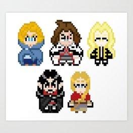 Castlevania Pixels Art Print
