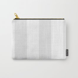 Wide Vertical Stripes - White and Pale Gray Carry-All Pouch