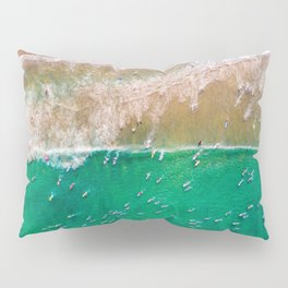 Surfers Paddling Out Pillow Sham