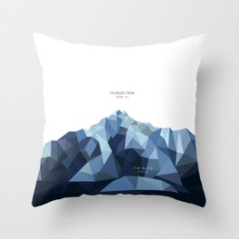 Pioneer Peak + The Butte Throw Pillow
