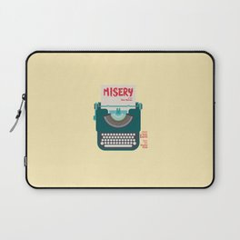 Misery, Horror, Movie Illustration, Stephen King, Kathy Bates, Rob Reiner, Classic book, cover Laptop Sleeve