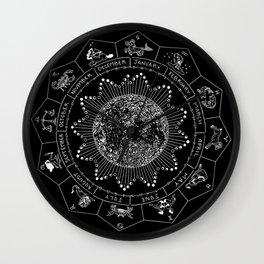 Lunar Calendar 2017 Wall Clock