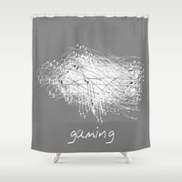 gaming Shower Curtains featuring gaming by K_REY_C