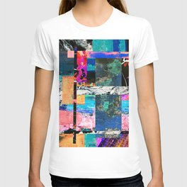Abstraction - Abstract, textured layers T-shirt