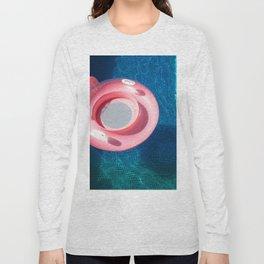 Rose blue swimming pool Long Sleeve T-shirt
