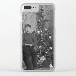Vintage X-mas Clear iPhone Case