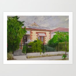 Thebarton House in Storm Art Print