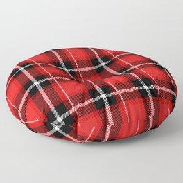 Red + Black Plaid Floor Pillow
