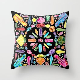 Crystal Bandana Spectrum Throw Pillow