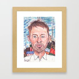 Thom Yorke Radiohead Hail to The Theif Framed Art Print