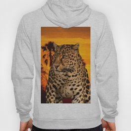 Leopard and Sunset Hoody