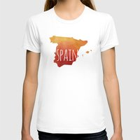 spain T-shirts featuring Spain by Stephanie Wittenburg