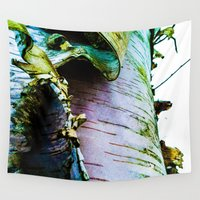 birch Wall Tapestries featuring birch by Jeni Decker