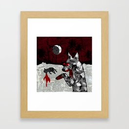 Red is the new black Framed Art Print