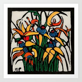 """Christmas Bulbs"" by Australian Artist Margaret Preston Art Print"