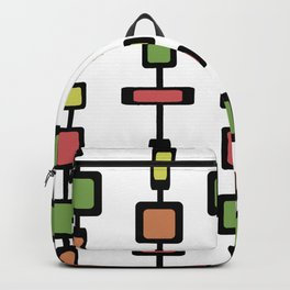 Mid Century Squares Art Backpack
