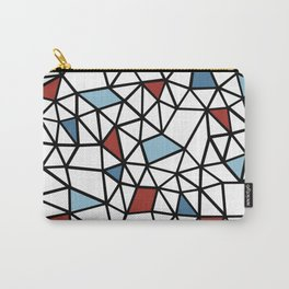 Segment Red and Blue Carry-All Pouch