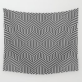 Op art hexagon Wall Tapestry