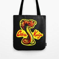 kaiju Tote Bags featuring Cobra Kaiju by Tabner's