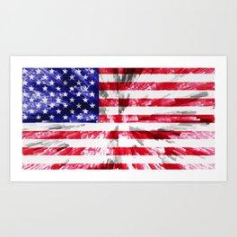 American Flag Extrude Art Print