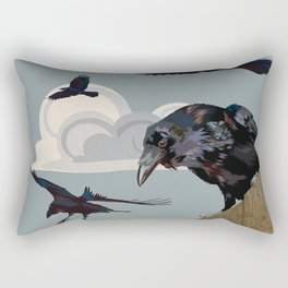 Invasion of the Crows Rectangular Pillow