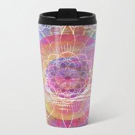 Glitch Mandala Metal Travel Mug