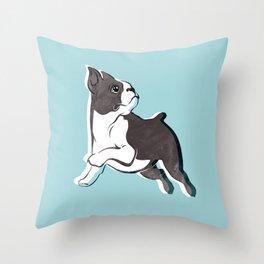 Boston Terrier Love Throw Pillow