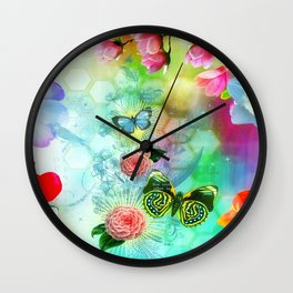Floral Fantasy 9 Wall Clock