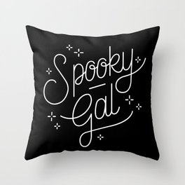 spooky gal Throw Pillow