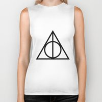 deathly hallows Biker Tanks featuring Deathly Hallows symbol by Vera