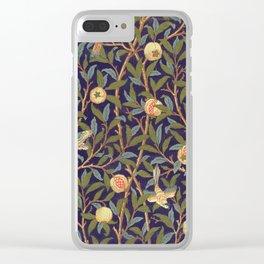William Morris Bird And Pomegranate Clear iPhone Case