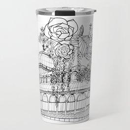 Conservatory of succulent - Black Travel Mug