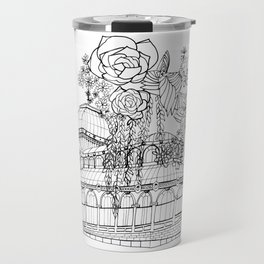 Conservatory of succulent - Black Travel Mug