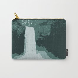 Abiqua Falls in Muted Teal Carry-All Pouch