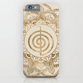 Cho Ku Rei - pastel gold lotus mandala iPhone Case