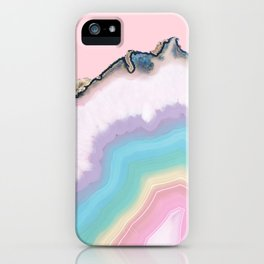 Rainbow Agate Slice iPhone Case
